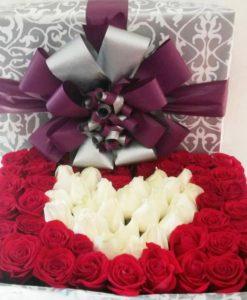 Caja de Regalo con Rosas - Flores, Florería, Floristería