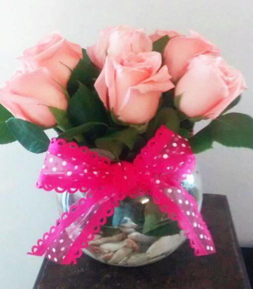 Florero con 9 Rosas - Flores, Florería, Floristería