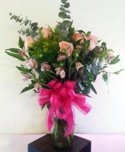 Florero con 6 Rosas - Flores, Florería, Floristería