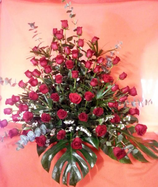 Canasta con 60 Rosas - Flores, Florería, Floristería