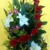 12 Rosas con Lilys - Flores, Florería, Floristería