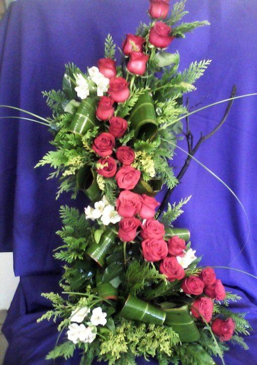 24 Rosas en 2 Niveles - Flores, Florería, Floristería