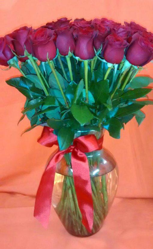 Jarrón con 48 Rosas - Flores, Florería, Floristería