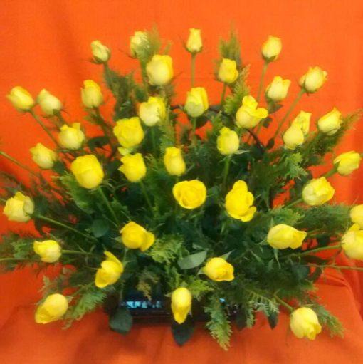 Canasta con 48 Rosas - Flores, Florería, Floristería