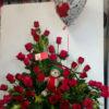 48 Rosas, Globo y Peluche - Flores, Florería, Floristería