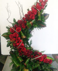 43 Rosas en Espiral - Flores, Florería, Floristería