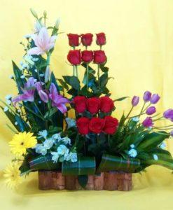 Rosas, Tulipanes, Lilis y Gerberas - Flores, Florería, Floristería