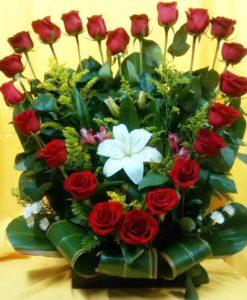 Corazón con 24 Rosas - Flores, Florería, Floristería
