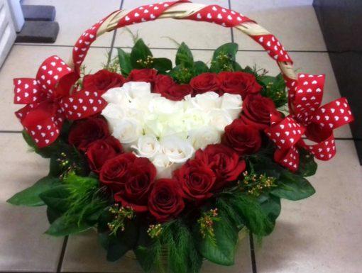 Corazón en Canasta - Flores, Florería, Floristería