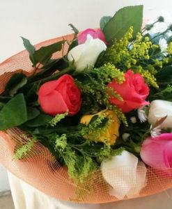 Bouquet de 12 Rosas de Colores en Red - Flores, Florería, Floristería