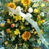 Corona con Girasoles - Flores, Florería, Floristería