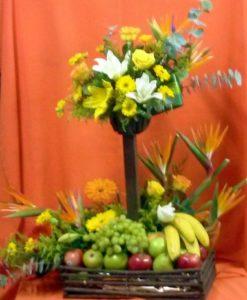 Arreglo Frutal con Aves - Flores, Florería, Floristería