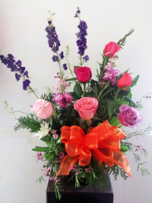Media Docena de Rosas Decoradas - Flores, Florería, Floristería
