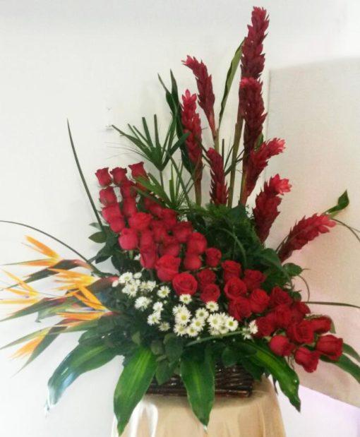 Exótico con Rosas, Aves y Ginger - Flores, Florería, Floristería
