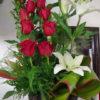 12 Rosas con Lilys en Torre - Flores, Florería, Floristería