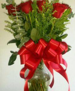 Jarrón con 18 Rosas - Flores, Florería, Floristería