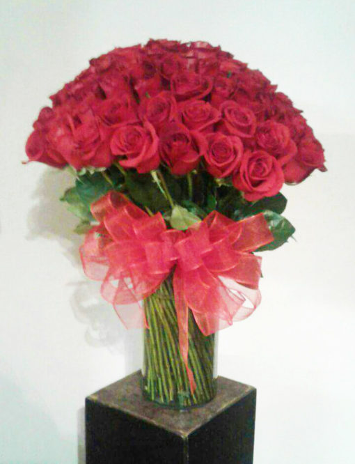Jarrón con 100 Rosas - Flores, Florería, Floristería