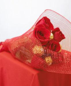 Bouquet de 6 Rosas con Chocolates en Red - Flores, Florería, Floristería