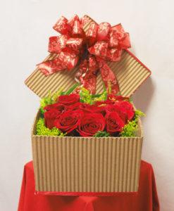 Caja con 12 Rosas - Flores, Florería, Floristería