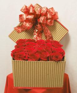 Caja con 24 Rosas - Flores, Florería, Floristería